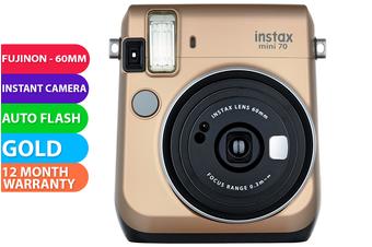 FujiFilm Instax Mini 70 Camera Gold - FREE DELIVERY