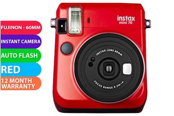 FujiFilm Instax Mini 70 Camera Red - FREE DELIVERY