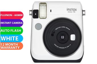 FujiFilm Instax Mini 70 Camera White - FREE DELIVERY