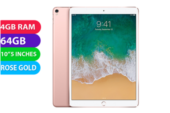 """Apple iPad PRO 10.5"""" Wifi (64GB, Rose Gold) - Used as Demo"""