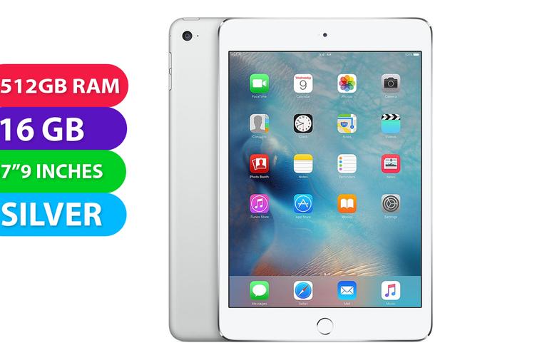 Apple iPad Mini Wifi (16GB, Silver) - Used as Demo