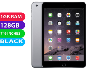 Apple iPad Mini 3 Wifi + Cellular (128GB, Black) - Used as demo