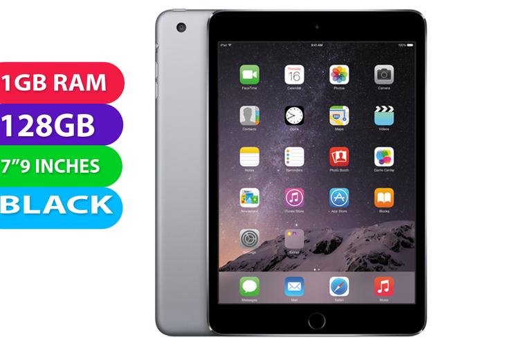 Apple iPad Mini 3 Wifi + Cellular (128GB, Black) - Used as demo