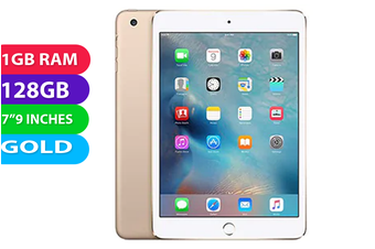 Apple iPad Mini 3 Wifi + Cellular (128GB, Gold) - Used as demo