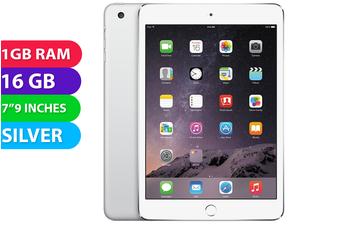 Apple iPad Mini 3 Wifi + Cellular (128GB, Silver) - Used as demo