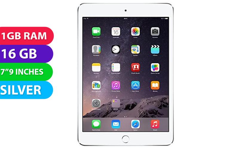 Apple iPad Mini 3 Wifi (16GB, Silver) - Used as Demo