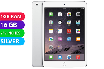 Apple iPad Mini 3 Wifi (16GB, Silver) - Used as Demo