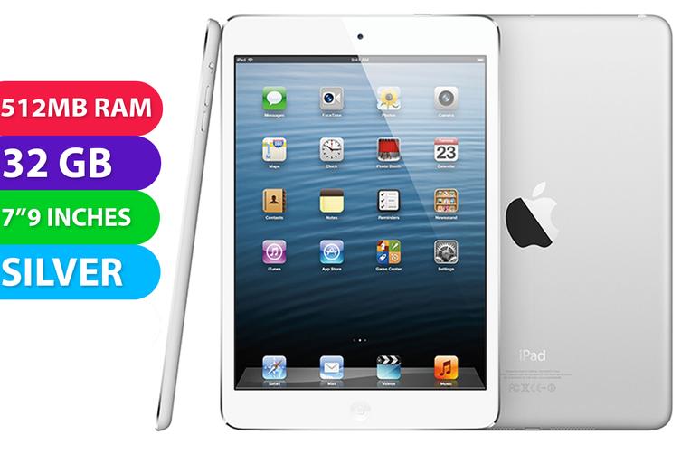 Apple iPad Mini Wifi (32GB, Silver) - Used as demo