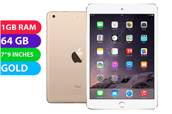 Apple iPad Mini 3 Wifi (64GB, Gold) - Used as Demo