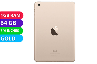 Apple iPad Mini 3 Wifi (64GB, Gold) - Used as Demo