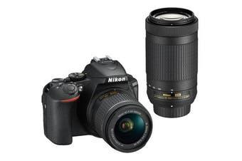 Nikon D5600 Kit AF-P (18-55 VR) (70-300) Black - FREE DELIVERY