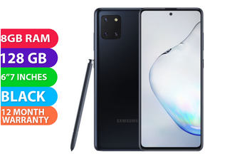 Samsung Galaxy Note 10 Lite Dual SIM 4G LTE (8GB RAM, 128GB, Aura Black) - FREE DELIVERY