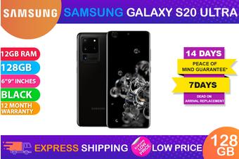 Samsung Galaxy S20 Ultra Dual SIM 5G (12GB RAM, 128GB, Cosmic Black) - FREE DELIVERY