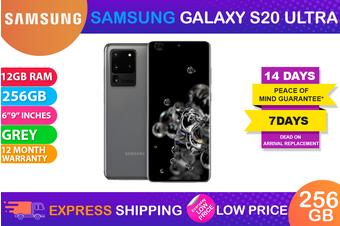 Samsung Galaxy S20 Ultra Single SIM 5G (12GB RAM, 256GB, Cosmic Grey) - FREE DELIVERY