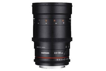 Samyang 135mm T2.2 ED UMC VDSLR Cine Lens for Nikon - FREE DELIVERY