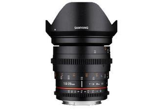 Samyang 20mm T1.9 ED AS UMC Cine Lens for Nikon - FREE DELIVERY