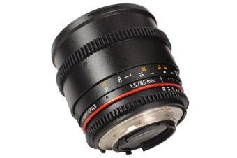Samyang 85mm T1.5 AS IF UMC VDSLR II Lens for Nikon - FREE DELIVERY