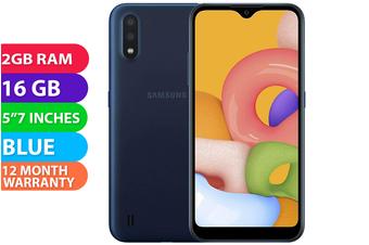 Samsung Galaxy A01 Dual SIM 4G LTE (2GB RAM, 16GB, Blue) - FREE DELIVERY