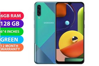 Samsung Galaxy A50s Dual SIM 4G LTE (6GB RAM, 128GB, Green) - FREE DELIVERY