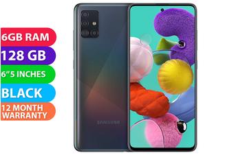 Samsung Galaxy A51 Dual SIM 4G LTE (6GB RAM, 128GB, Black) - FREE DELIVERY