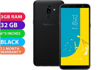 Samsung Galaxy J8 Dual SIM 4G LTE (3GB RAM, 32GB, Black) - FREE DELIVERY