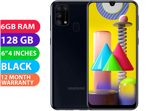 Samsung Galaxy M31 Dual SIM 4G LTE (6GB RAM, 128GB, Black) - FREE DELIVERY