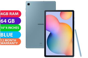 Samsung Galaxy Tab S6 Lite Wifi + Cellular (4GB RAM, 64GB, Angora Blue) - FREE DELIVERY
