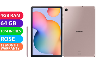 Samsung Galaxy Tab S6 Lite Wifi + Cellular (4GB RAM, 64GB, Chiffon Rose) - FREE DELIVERY