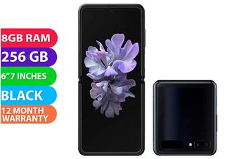 Samsung Galaxy Z Flip 4G LTE (8GB RAM, 256GB, Mirror Black) - FREE DELIVERY