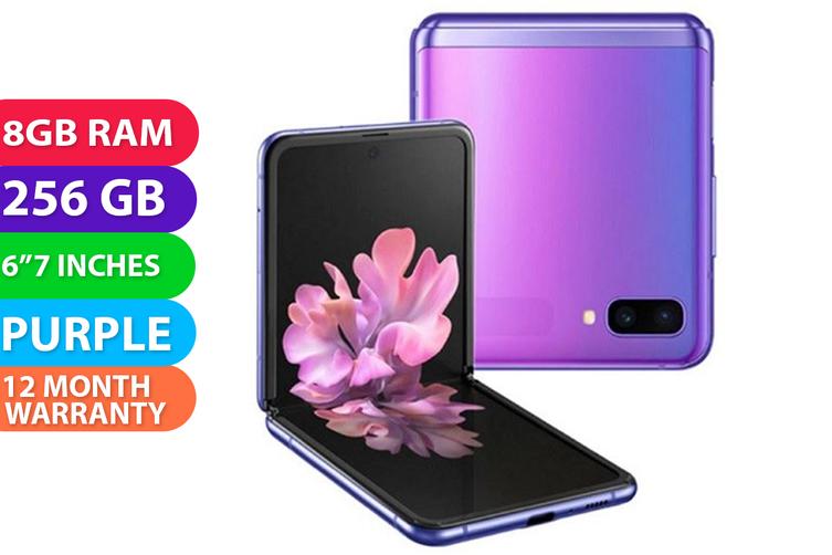 Samsung Galaxy Z Flip 4G LTE (8GB RAM, 256GB, Mirror Purple) - FREE DELIVERY