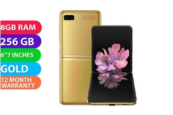 Samsung Galaxy Z Flip 4G LTE (8GB RAM, 256GB, Mirror Gold) - FREE DELIVERY