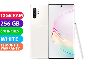 Samsung Galaxy Note 10+ Plus Dual SIM 4G LTE (256GB, White) - FREE DELIVERY