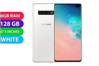 Samsung Galaxy S10+ Plus 4G LTE (128GB, Prism White) - AS New