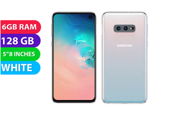 Samsung Galaxy S10e (128GB, White) - Used as Demo