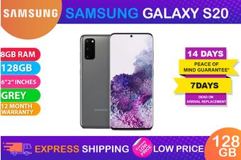Samsung Galaxy S20 Dual SIM 4G LTE (8GB RAM, 128GB, Cosmic Grey) - FREE DELIVERY