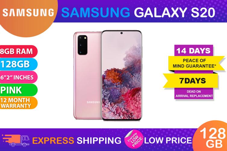 Samsung Galaxy S20 Dual SIM 4G LTE (8GB RAM, 128GB, Cloud Pink) - FREE DELIVERY