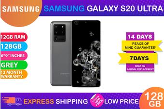 Samsung Galaxy S20 Ultra 4G LTE Dual SIM (12GB RAM, 128GB, Cosmic Grey) - FREE DELIVERY