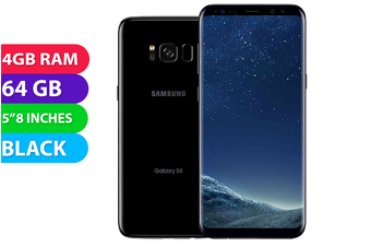 Samsung Galaxy S8 4G LTE (64GB, Midnight Black) - Used as Demo