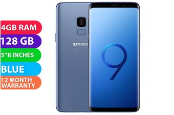 Samsung Galaxy S9 Dual SIM 4G LTE (128GB, Coral Blue) - FREE DELIVERY