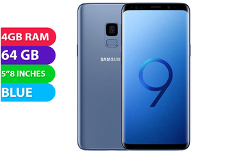 Samsung Galaxy S9 4G LTE (64GB, Coral Blue) - Used as Demo