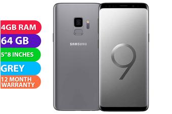 Samsung Galaxy S9 Dual SIM 4G LTE (4GB RAM, 64GB, Grey) - FREE DELIVERY