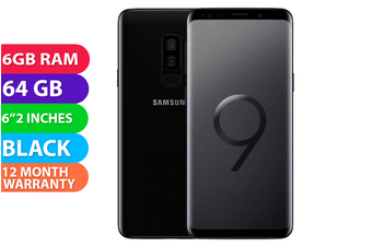 Samsung Galaxy S9+ Plus Dual SIM 4G LTE (6GB RAM, 64GB, Midnight Black) - FREE DELIVERY