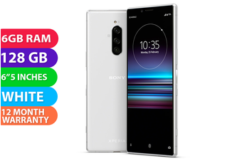Sony Xperia 1 Dual SIM 4G LTE (128GB , White) - FREE DELIVERY