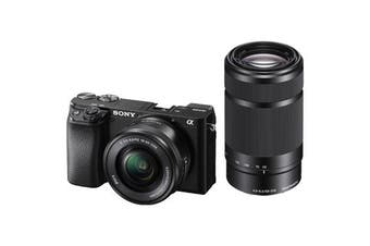 Sony Alpha A6100 with 16-50mm and 55-210mm Lens - (FREE DELIVERY)