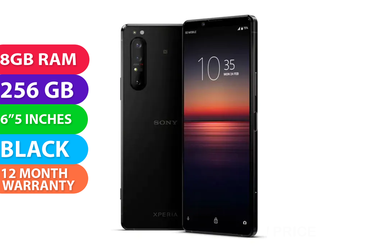 Sony Xperia 1 II Dual SIM 5G (8GB RAM, 256GB, Black) - FREE DELIVERY
