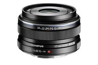 Olympus M.ZUIKO ED 17mm f/1.8 Lens Black - FREE DELIVERY