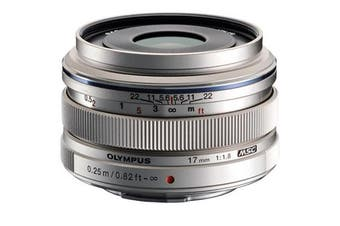 Olympus M.ZUIKO ED 17mm f/1.8 Lens Silver - FREE DELIVERY