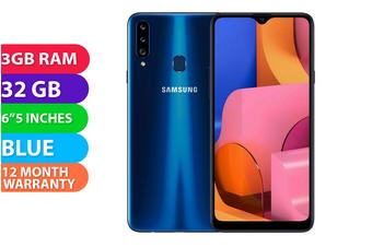 Samsung Galaxy A20S Dual SIM 4G LTE (3GB RAM, 32GB) Blue - FREE DELIVERY