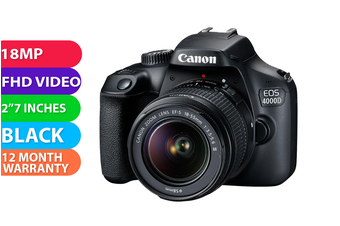 Canon 4000d kit 18-55 III Black - FREE DELIVERY