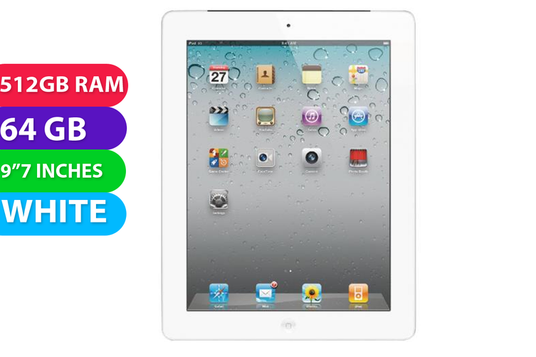 Apple iPad 2 64GB Wifi White - Used as Demo